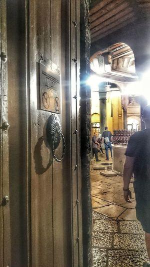 Bosnia And Herzegovina Sarajevo Bascarsija Mosque Fate  Door Indoors  Day Real People Architecture People
