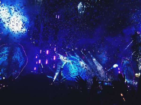The best night of my life. Arts Culture And Entertainment Illuminated People Coldplay First Eyeem Photo