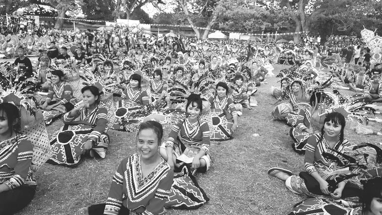Monochrome Photography the sweetest smiles of the contingents of Lubu-Lubi sa Glan Festival 2016