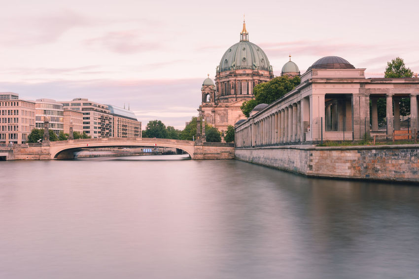 Berlin Cathedral at sunset Berlin Berlin Cathedral Berlin Mitte Berliner Dom Copy Space Spree River Berlin Arch Bridge Architecture Bridge Bridge - Man Made Structure Building Building Exterior Built Structure City Connection Government Museum Island Berlin Nature No People Outdoors River Sky Summer In Berlin Sunset In Berlin Tourism Transportation Travel Travel Destination Travel Destinations Water Waterfront