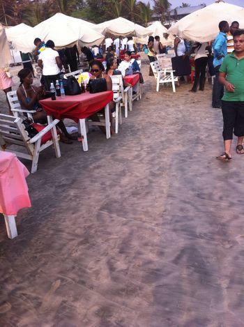 at Labardi Beach