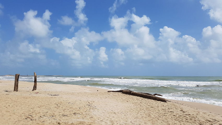 Vitamin sea. Sea Beach Cloud - Sky Water Sky Sand Horizon Over Water Nature Landscape Outdoors Travel Destinations Wave Scenics Vacations No People Beauty In Nature Day Sunny Kuala Terengganu Malaysia