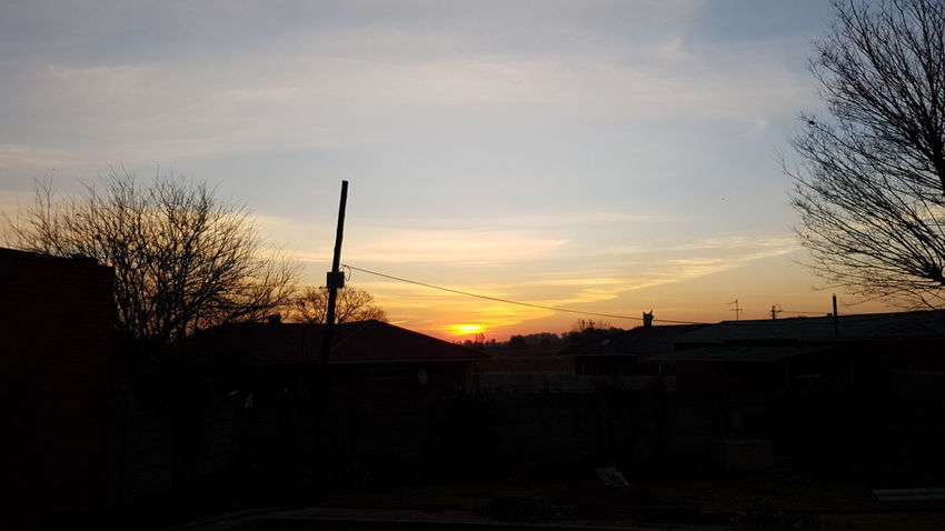 African Skies Wintry Sunset South Africa Open Your Eyes See God's Glory On Display From Where I Stand