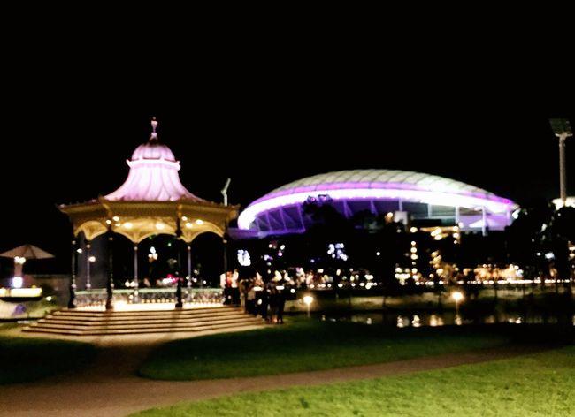 Adelaide, South Australia Adelaide Oval River Torrens Rotunda Scenic Night Lights Night Photography Night