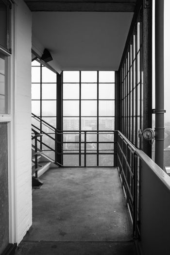 view of rotterdam skyline through window Architecture Architecture B&w Black And White Black And White Photography Building Built Structure Day Gallery Appartmentbuilding Indoors  No People Railing Skyline Rotterdam Skyline Through Window Window