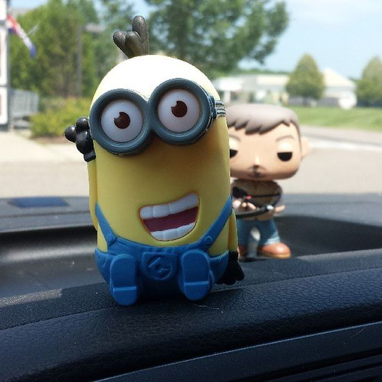 Minion better watch his 6. Minion  Daryl Thewalkingdead Fun summerday despicableme newminion