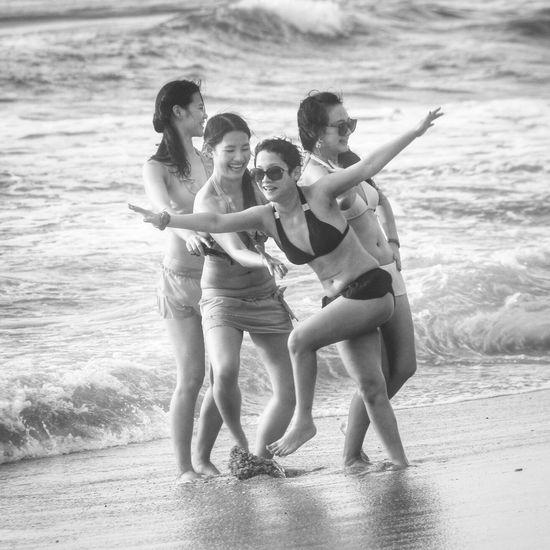 Beach Blackandwhite Monochrome Bikini Model
