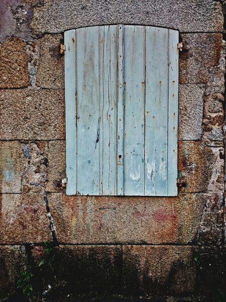 Fiestra Mugardos Galicia Acoruña Acorunha Or Ventana Stone Window Wood - Material Blue Architecture Day Outdoors No People Built Structure Building Exterior