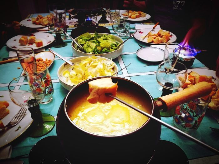 Fondue Pot Fondue Savoyarde Food And Drink Table Food Plate Ready-to-eat Indoors  Serving Size Appetizer