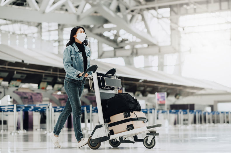 Woman standing at airport