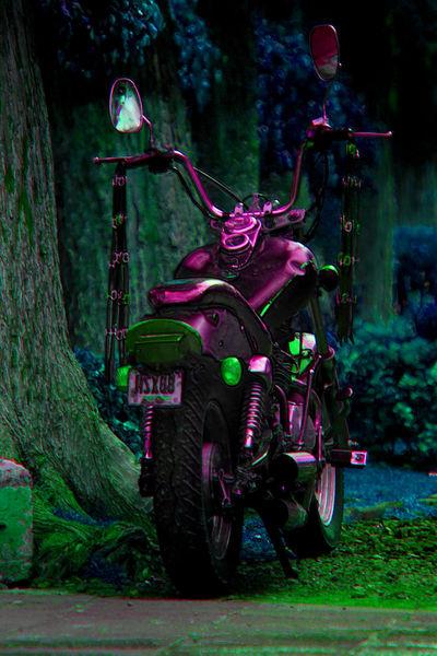 la motocicleta del depredador