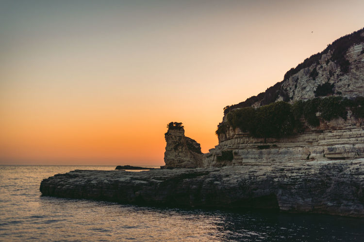 Lost In The Landscape Beauty In Nature Cliff Day Horizon Over Water Nature No People Outdoors Rock - Object Rock Formation Scenics Sea Sky Sunset Tranquil Scene Tranquility Water