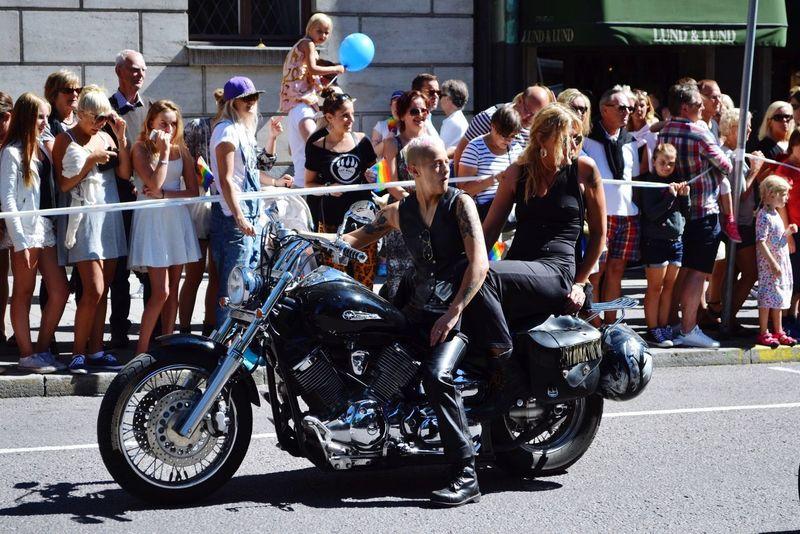 Pride Stockholm, Sweden Human Rights Color Explosion Coloursplash Ballons Motorcycles Love Lovelovelove