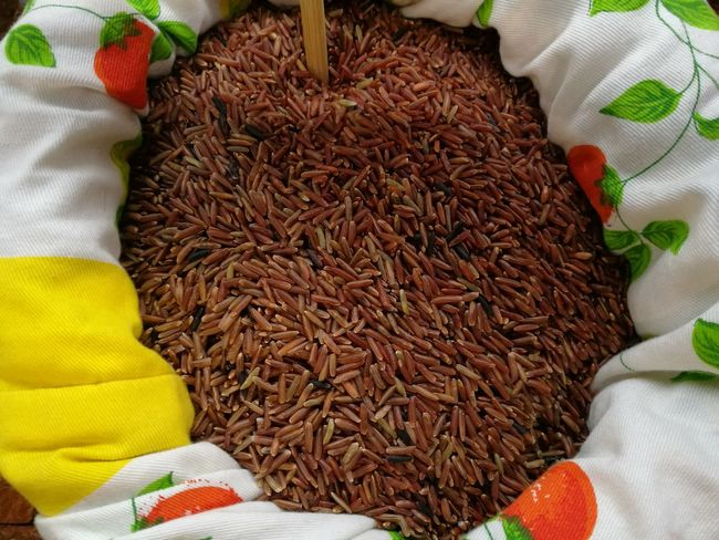 Black Cereal Close-up Food Food And Drink Freshness Indoors  Protein Red Rice Thai Venere