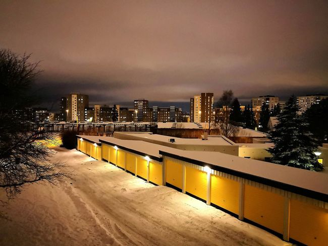 Snow ❄ Oslo, Norway Winter View Night In The City Cold But Beautiful City Views