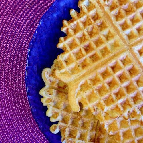 Food Porn Homemade Waffles Morning Rituals Geometric Shapes