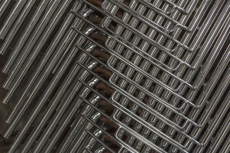Close Up Of Metal Pipes