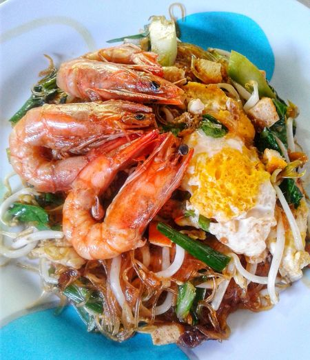 Seafood Plate Close-up Food And Drink Noodles Thai Food Thai Culture Ramen Noodles Shrimp - Seafood Noodle Soup Stir-fried