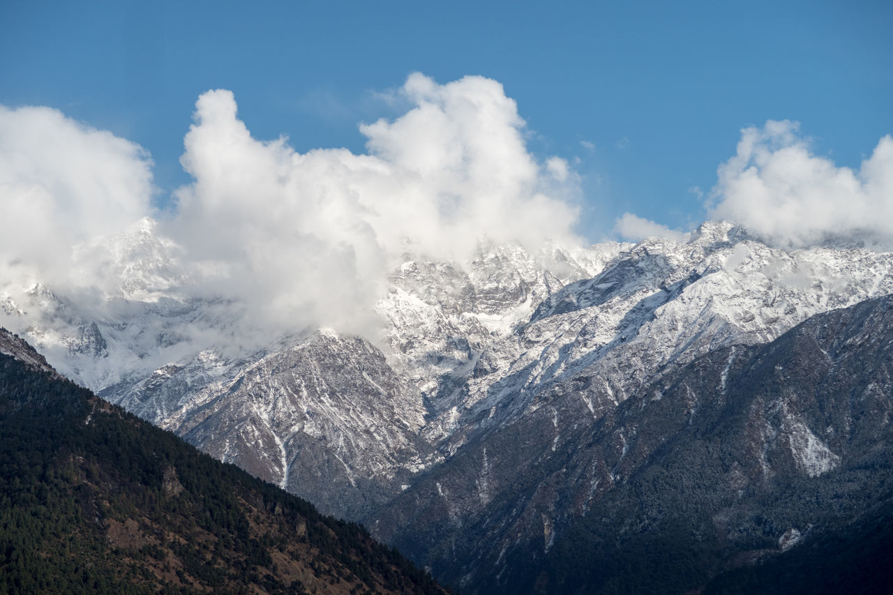 mountain, snow, landscape, nature, sky, beauty in nature, no people, outdoors, day, range