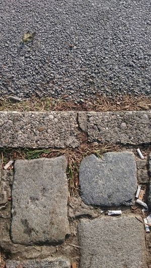 Concrete Outdoors Stone Material Top Perspective Floor Paved Path