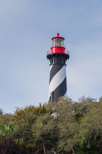St. Augustine Lighthouse Black Florida Lighthouse Red St. Augustine St. Augustine, FL  Striped White