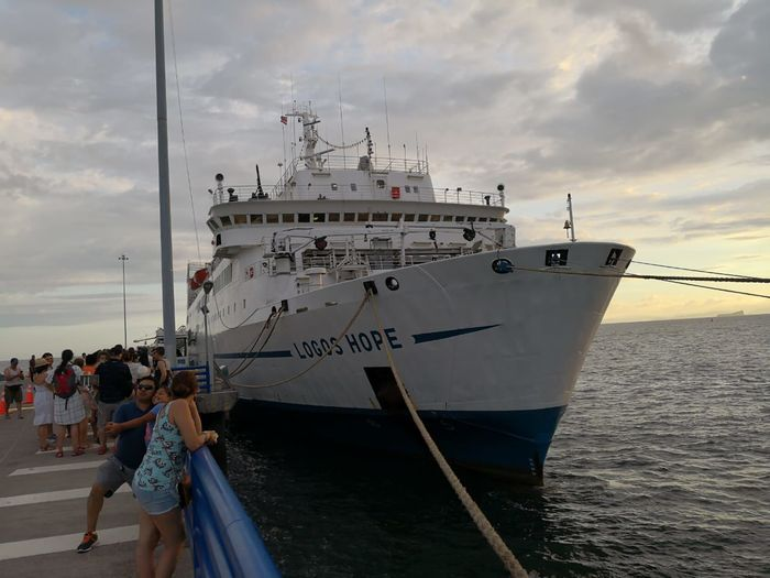 LogosHope Nautical Vessel Water Sea Beach Freight Transportation Ship Sky