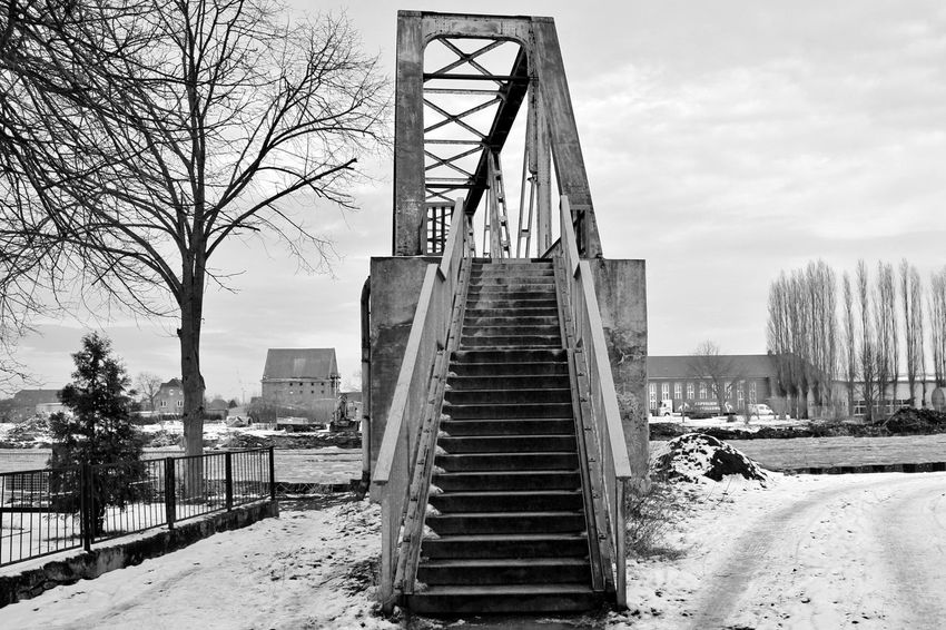 Architecture Bridge - Man Made Structure Brücke Day Genthin No People Old Old Buildings Outdoors S/w Sachsen-Anhalt Steps Tree Trzoska Winter