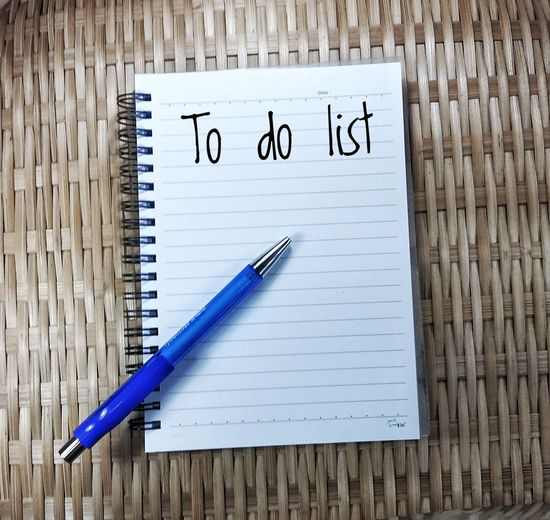 Wood - Material Table Office Supply Paper No People Office Desk Note - Message Compatibility Spiral Notebook Close-up Indoors  Note Pad Day To Do List