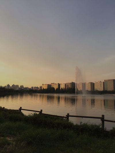 Ilsan  Water Sunset Ilsan,Korea Ilsan Lake Park Goyang Diversion Lake Lake View
