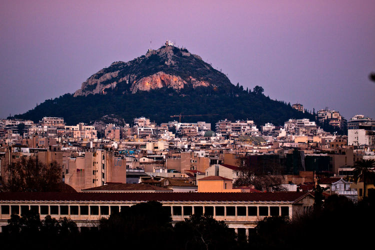 Athens with Lycabettus hill in background Athens, Greece Downtown Evening Light GREECE ♥♥ Athens Buildings Buildings & Sky City City Scape Cityscape Clear Sky Day Downtown District Evening Evening Sky Greece Hill Outdoors Sky