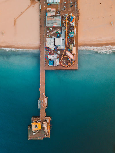 Aerial View Of Pier By Sea