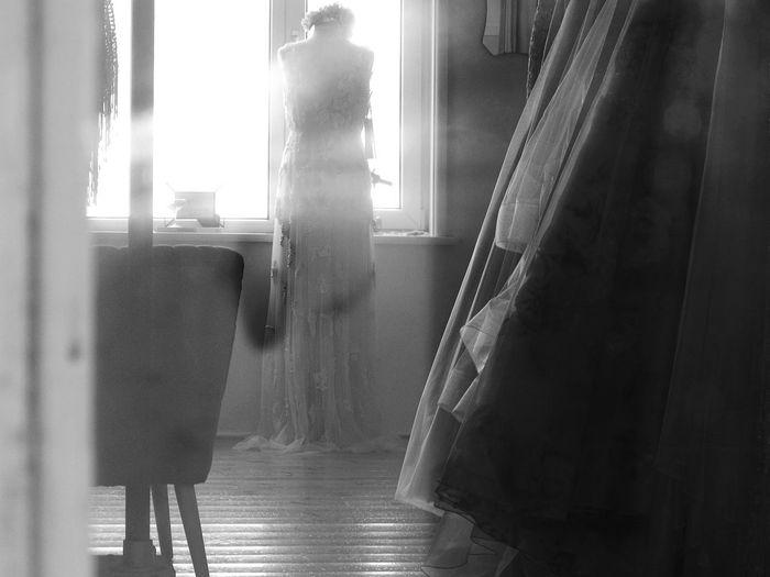 Romance Black And White Blackandwhite Photography Glitch Blurry Brides Dress Brides Dressing Room Romantic Dreamy Elegant Window Door Frame Through The Window Window The Creative - 2018 EyeEm Awards