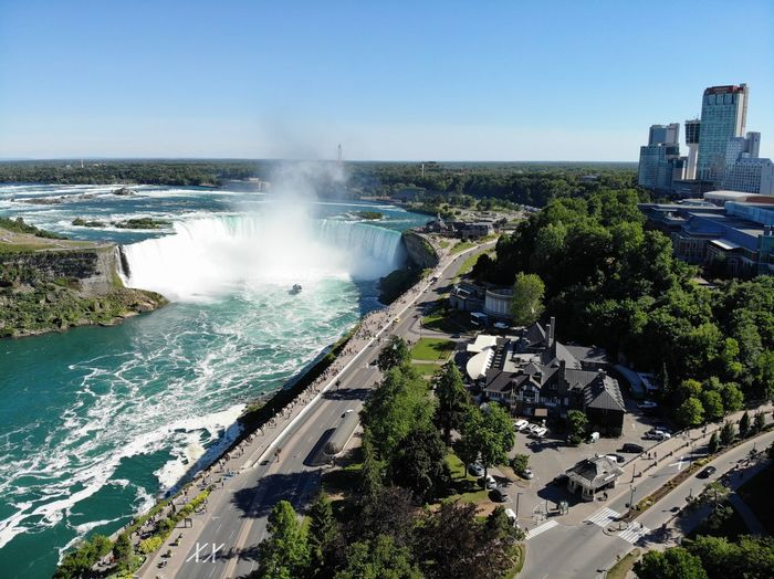 Airial Photography Airial View 7 Wonders Of The World 7 Wonders World Wonder Canada Birdsview Falls 🌊 Fallsview Niagara Falls Tsuistyle Photography Water Sky Nature Day Clear Sky Power In Nature Scenics - Nature