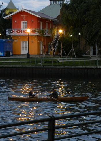 Water Reflections, Outdoors light and reflection River Life Rowingboat Light In The Darkness House At River