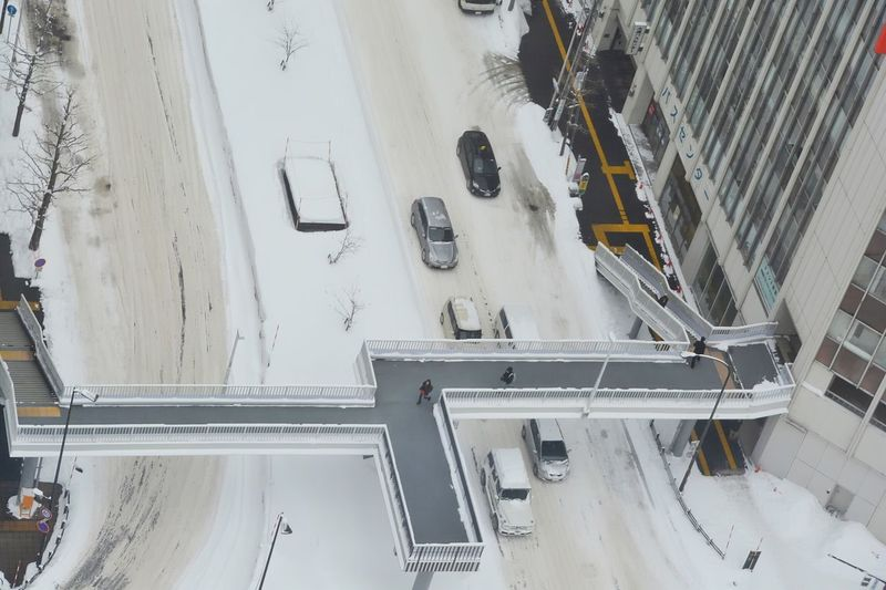 https://youtu.be/BarFDDS987w Snow High Angle View Winter Snow Transportation Cold Temperature Road Architecture Built Structure Day Land Vehicle Nature White Color Building Exterior Car Covering No People Street Mode Of Transportation City Motor Vehicle