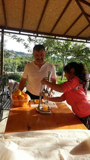 Modern Father orange juice