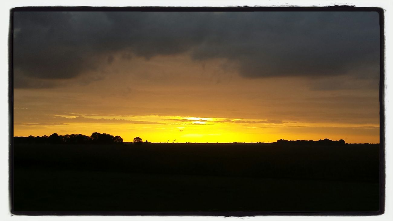Beautiful Sunset from the dyke between Den Bosch and Vught