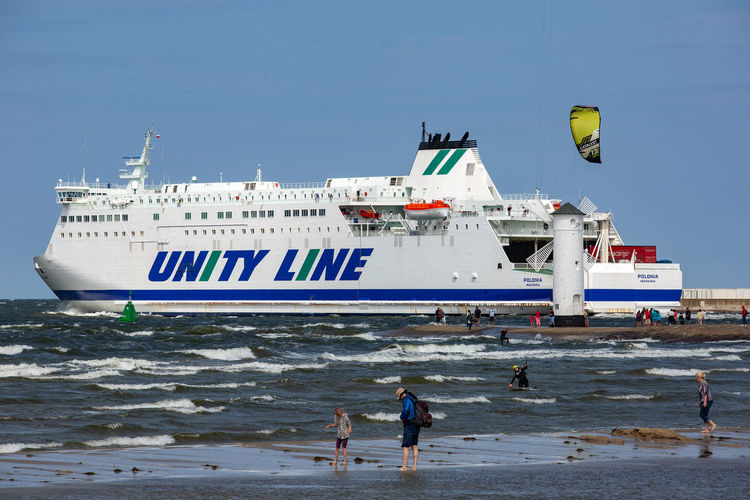 Baltic Baltic Sea Stawa Młyny Beach Day Group Of People Land Leisure Activity Lifestyles Men Mode Of Transportation Motion Nature Nautical Vessel People Real People Sea Sky Sport Transportation Water Wave