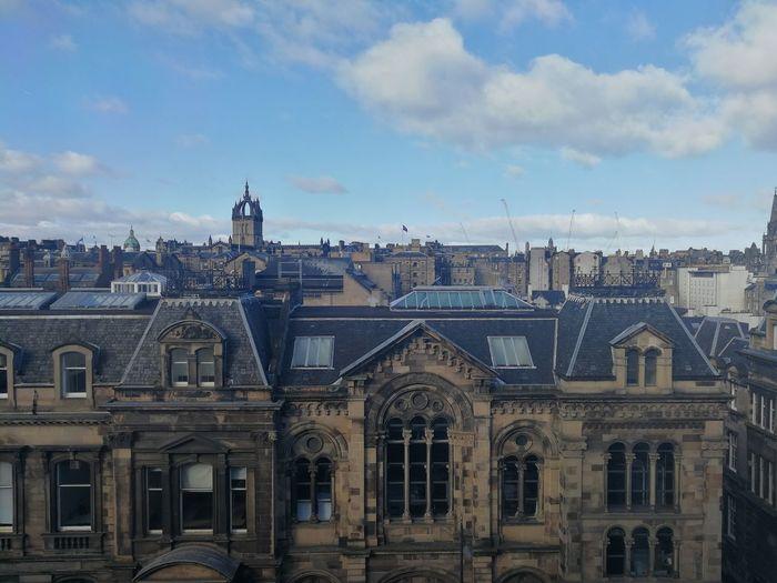 Edinburgh skyline City Cityscape Sky Architecture Building Exterior Built Structure Cloud - Sky Historic