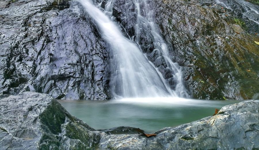 Waterfall Water Scenics Long Exposure Motion Flowing Beauty In Nature Nature Flowing Water Splashing Fountain No People Rock - Object Outdoors Travel Destinations Environment Cliff Freshness Running Water Vacations