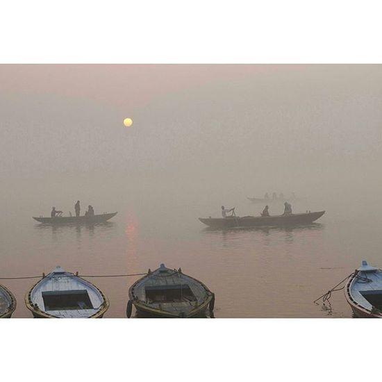 Misty morning in Varanasi, India Landscape Morning Photooftheday Picoftheday photojournalism asia everydayasia ontheroad instagood reportage documentary humaninterest photodocumentary ganges india misty boats