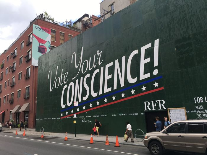 Billboard City Conscience Election Street Trump Vote