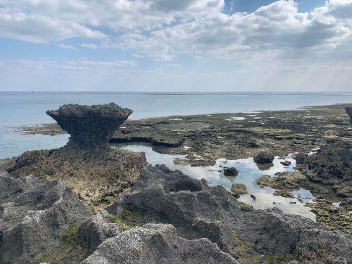 竜宮神 奥武島 Okinawa 沖縄 Water Sea Sky Horizon Over Water Horizon Beach Beauty In Nature First Eyeem Photo