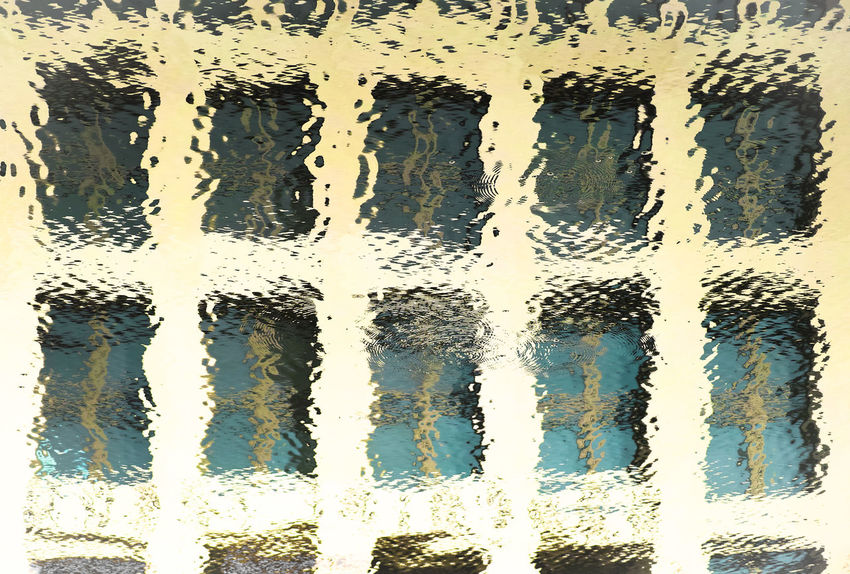 Windows 10 10 Reflection Architecture Backgrounds Built Structure Close-up Day Full Frame No People Outdoors Pattern Reflection_collection Ten Textured  Water Window