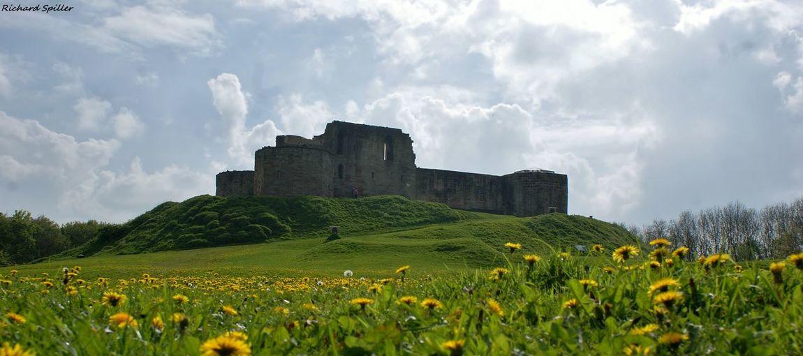 Stafford castle against cloudy sky