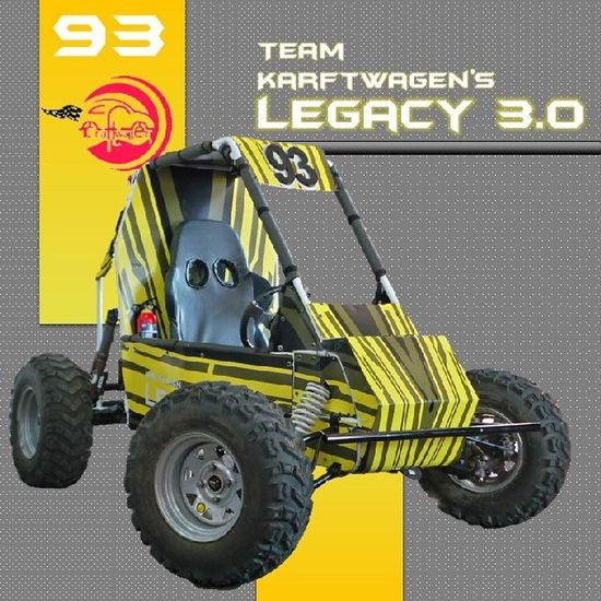 Kraftwagen Legacy3 .0 Sae BAJA2015 Winners