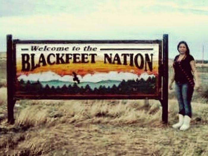 RezLife My World Montana Native Pride Blackfeet Nation Beautiful Woman
