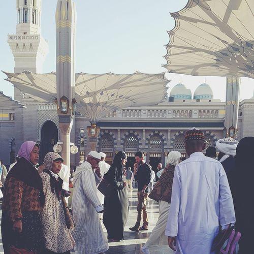 Showcase: February Nabawi Mosque Nabawimosque Madinah Islamic Architecture People Urban Lifestyle