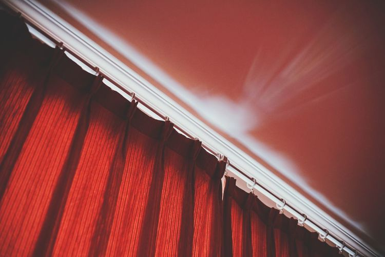 Low Angle View Of Red Curtain