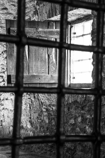 Montefusco Avellino Carcere Borbonico Cancello Sbarre Window Architecture Day No People Indoors  Pattern Glass - Material
